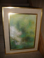 LISTED JOSEPH BARBER (AMERICAN 1915  OIL PAINTING IMPRESSIONISM LANDSCAPE SIGNED
