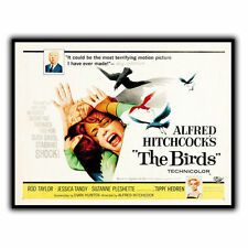 ALFRED HITCHCOCK'S THE BIRDS METAL WALL SIGN PLAQUE Film Advert poster print