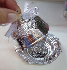 10 Mini Silver Platter Wedding Favours Favors Supplies Table Sweets Decorations