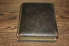 "Antique Album Leather with Old Photos PA 8.5"" x 11"" thick pages photo brown"