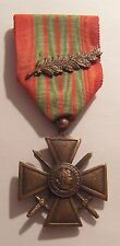 VINTAGE WW II French Croix de Guerre Medal War Cross 1939 1945 with PALM
