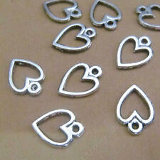 100pc Tibetan Silver Peach heart Pendant Charms Bead Jewellery Accessories P702P