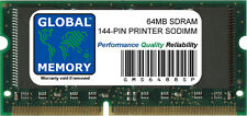 64MB SDRAM 144-PIN PRINTER RAM (ZMC64/A , 001339MIU , 001178MIU , 000829MIUL)