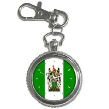 RHODESIA RHODESIAN FLAG ROUND KEYCHAIN WATCH **GREAT GIFT IDEA**