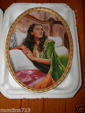"GONE WITH THE WIND BRADFORD CAMEO PLATE 5TH ISSUE #4491A""EMERALD ELEGANCE"" W/COA"