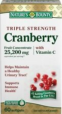 Nature's Bounty Triple Strength Cranberry Fruit Concentrate with Vita C 25,200mg