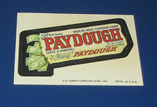 73 WACKY PACKAGES SERIES 12 TAN BACK PAYDOUGH CANDY BAR     NM/MT