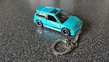 Diecast Honda Civic Blue Toy Car Keyring Keychain