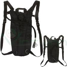 Zaino borsa borraccia acqua 3L+cannuccia tubo trekking campeggio idrico NERO