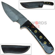 Rebel Wolf Ultra Sharp High End Collectors Damascus Steel Knife Forged Full Tang