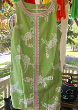 RARE Lilly Pulitzer Originals WORTH shift dress PINK green Not So Crabby size 16