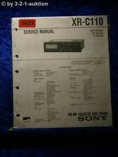 Sony Service Manual XR C110 Cassette Car Stereo (#3623)