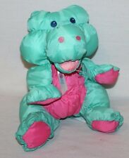 "1993 Fisher Price Puffalump Jungle Junior Alligator Green Pink Plush 12"" VINTAGE"