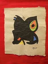 JOAN MIRO '  - DRAWING / INK ON ORIGINAL PAPER  SIGNED   -  -- ---- //