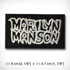 new MARILYN MANSON EMBROIDERED PATCH IRON ON or SEW. Industrial metal rock heavy
