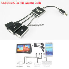 Micro USB Dual OTG Host Hub Cable Adapter For Google Nexus Samsung N5100 S3 S4