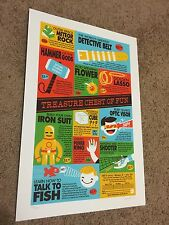 Dave Perillo Print Poster Mondo Treasure Chest Of Fun Thor Batman Spiderman Rare