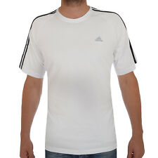 adidas Performance Essentials Mens Climalite T-Shirt Tee Top White B Grade - L