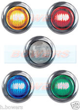 "CHROME BEZEL SURROUND TRIM FOR SMALL 1"" ROUND LED BUTTON MARKER LAMP/LIGHT"