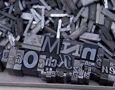 3,1 kg caractères en plomb lettres typographie imprimerie letterpress tampon