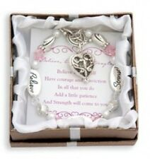 DMM Silver & Crystal Expressively Yours Bracelet Believe Courage Strength