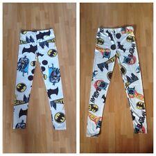 BNOWT ASOS Ladies/Teenage Girls White Batman Print Fashion Leggings - Size 8-10?