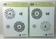 Stampin' Up! Four Seasons Clear Rubber Stamp Fall Winter Summer Spring Snow Leaf