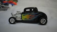 1998 Hot Wheels New Model Black 32 Ford Coupe Custom Real Riders