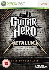 XBOX 360 gioco GUITAR HERO METALLICA RAR ***
