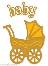 Crafts Too - Presscut Die Cutting & Embossing Stencil - Baby Pram - PCD38 - New