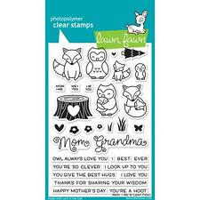 Lawn Fawn Photo-polymer Clear Stamp Mom & Me Grandma Owl Fox LF1134
