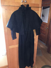 VINTAGE VICTORIAN BLACK DRESS WITH SHAWL