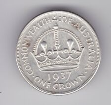 1937 Sterling Silver Crown Coin Australia King George V1 T-632
