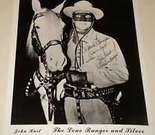 JOHN HART / THE LONE RANGER /  8 X 10  B&W  AUTOGRAPHED  PHOTO