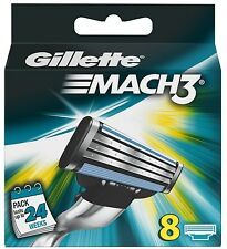 8 Pack Genuine Gillette Mach3 Replacement Razor Blades - Mach 3