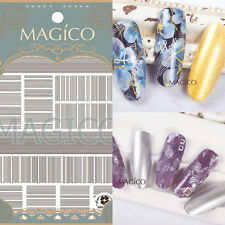 1 Sheet Ultra-thin Adhesive 3D Nail Art Sticker Manicure Decal Line Design Tips