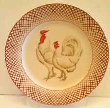 One Basic Porcelana Rooster & Hen Dinner Plate Home Essentials & Beyond