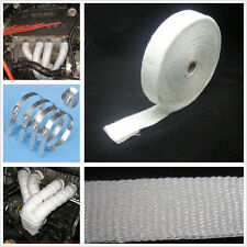 White Turbo Heat Exhaust Header Manifold Thermal Wrap + Stainless Ties 2'' x 50'