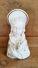 "RIES Japan / Hand Decorated Mother Mary Figurine /50's or 60's?/ Ceramic 6 1/2""T"