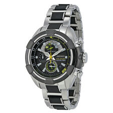 Seiko Velatura Chronograph Yachting Timer Black Dial Stainless Steel Mens Watch