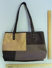 Women's ROSETTI Cocoa Brown & Gold Purse Ladies Shoulder Tote Hand Bag