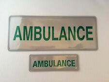 Encapsulated AMBULANCE reflective badge 300mm SET