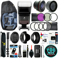 Canon EOS Rebel T5 / 1200D Everything You Need Accessory Kit 58MM Lens Bundle