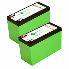 2pc K2 Energy 12V 7Ah LiFEPO4 Battery for Golf Carts, Backup Systems, Solar