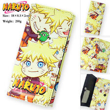 Cute Naruto Long Wallet Uzumaki Naruto Bifold Purse PU leather Wallet Gift New