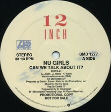 NU GIRLS Can We Talk About It (1988 U.S. 3 Track Promo 12inch)