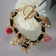 B219 Betsey Johnson Alice in the Wonderland Tea Party Chair Rose Bracelet  US