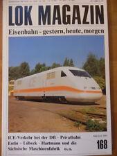 LOK MAGAZIN 168 * - Mai/Jun 1991 ICE Privatbahn Eutin-Lübeck Triebwagen VT 50