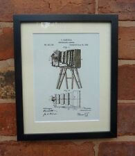 USA Patent Drawing vintage CAMERA photography MOUNTED PRINT 1885 Gift