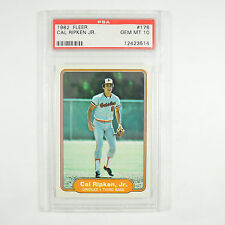 1982 Fleer Cal Ripken Jr. #176 Rookie Baltimore Orioles PSA 10